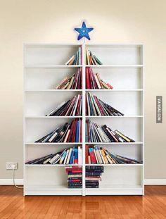 l'albero di #Natale di chi ama i #libri <3