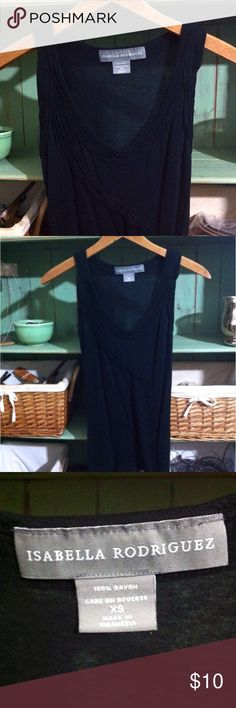 Slinky Tank Worn only once, a pretty dress-casual tank by Isabella Rodriguez, in SZ extra-small. Elizabeth Rodriguez Tops