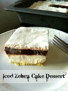 Iced Zebra Cake Dessert Recipe