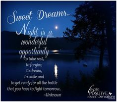 blessed good night inspired positive sensations