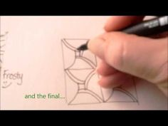 ▶ How to draw tanglepattern Fiore - YouTube