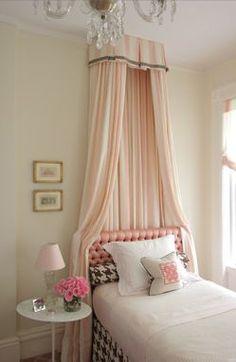 pretty pink classy bedroom.