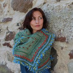 Warm Crochet Shawl Soft Warm Wrap Crochet by handmadegiftsbyLaila