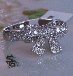 Bow ring. Cute.