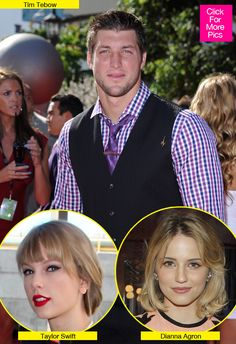 """""""Tim Tebow In Love Triangle With Taylor Swift & Dianna Agron"""" Hollywood Life (March 26, 2012)"""