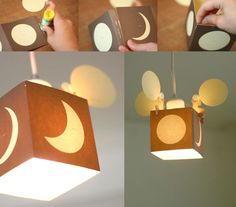 TTable Full Moon Story Card doubles as a DIY lampshade