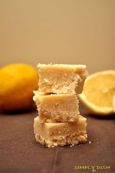 Lemon Coconut Squares - from Raw Food Recipes