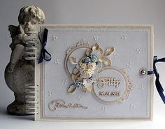Dorota_mk: Baptism of Philip Shabby Chic Cards, Vintage Shabby Chic, Vintage Style, Mini Albums, Cardmaking And Papercraft, Altered Books, Baby Cards, Paper Crafts, Creative