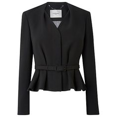 Buy L.K. Bennett Judi Hemmers Jacket, Black Online at johnlewis.com