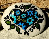 My Heart at Twilight  /  Painted Stone / Sandi Pike Foundas / Cape Cod