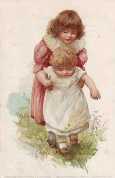 Vintage postcard illustrated by Harriett M. Bennett (English, 1870--1921)