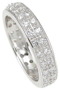 Other 1.0 ct Pave Double Row Anniversary/Eternity Band Sz. 7 *Exclusive New*