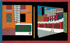 Stuart Davis, House and Street, 1931. Oil on canvas, 26 × 42 1/4 in. (66 × 107.3 cm). Whitney Museum of American Art, New York; purchase  41.3