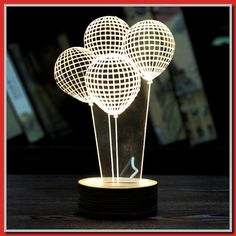 HongXander Night Light Optical Chain Link Lighting Laser Cut Desk Lamp USB LED 4 * To view further for this item, visit the image link. (This is an affiliate link)