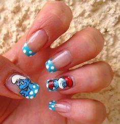 Smurf Nails