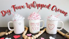 I'm finally back after taking a break! We had some family issues going on that we had to deal with. But I'm so happy to be back sharing videos with. Fake Cupcakes, Fake Cake, Diy Whipped Cream, Hot Cocoa Bar, Diy Mugs, Hot Chocolate Bars, Christmas Mugs, Father Christmas, Cards