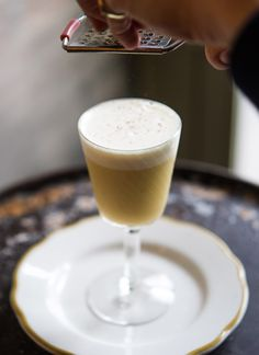 Sherry Flip cocktail recipe: A cold weather fortifier for delicate people. | Photo: Daniel Krieger