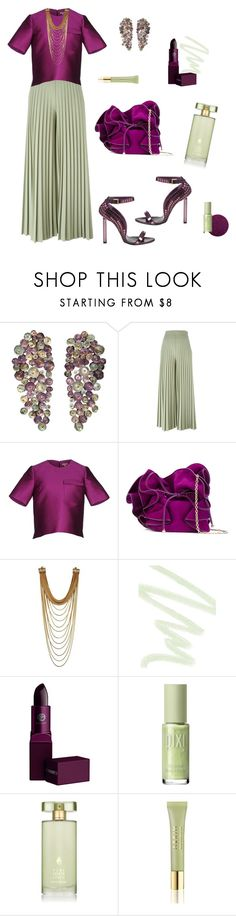 """""""Church Flow #3"""" by loveleelove ❤ liked on Polyvore featuring Givenchy, P.A.R.O.S.H., Tom Ford, Nina Ricci, Dolce&Gabbana, Lipstick Queen, Estée Lauder and AERIN"""