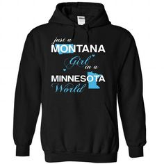 (MTJustXanh001) Just A Montana Girl In A Minnesota Worl - #gift #cheap gift. SAVE => https://www.sunfrog.com/Valentines/-28MTJustXanh001-29-Just-A-Montana-Girl-In-A-Minnesota-World-Black-Hoodie.html?68278