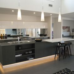 Fabulous kitchen design by Independent Builders Network Geelong. High ceilings  will enhance the space and light in a home. #HomeIdeas #WeeklyHomeTrendsToInspire #Kitchens #KitchenIdeas   http://independentbuilders.com.au/portfolio/the-highton-armstrong/