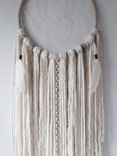 Ethereal Boho XL Cream Dream Catcher Extra Large by owlsroadstudio