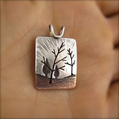 Two Towering Maple Forest Pendant by BethMillnerJewelry on Etsy, $195.00