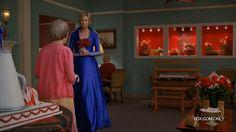 Blue with White Stripes Wedding Dress