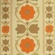 LAST-ONE-1960S-70s-Danish-MIDCENTURY-Modern-TulipsOriginal-Vintage-Wallpaper