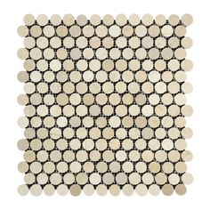 Crema Marfil Marble Honed Penny Round Mosaic Tile