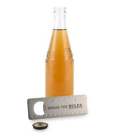 Look what I found on #zulily! 'Break the Rules' Office Bottle Opener #zulilyfinds
