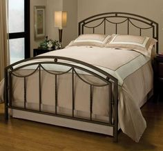 1501500 in by Hillsdale Furniture in Fredericksburg, VA - Arlington Bed Set In Bronze Metal (bed Frame Not Included) - Queen Queen Size Bed Sets, Queen Bedding Sets, King Size, Iron Headboard, Headboard And Footboard, Bed Headboards, Queen Headboard, Brass Headboard, Daybed Bedding