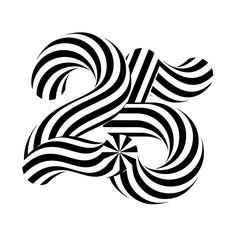 EASD 25 Anniversary on Behance - sergi delgado Typography Letters, Typography Poster, Typography Design, Logo Design, Graphic Design, Creative Typography, Anniversary Letter, 25th Anniversary, Art Actuel