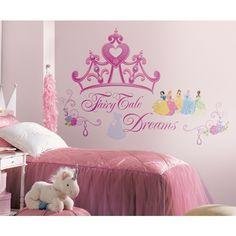 Princess Bedroom Ideas New New Disney Princess Crown Giant Wall Decals Girls Stickers Pink Bedroom Decor Disney Princess Bedroom, Princess Room Decor, Princess Bedrooms, Teen Girl Bedrooms, Small Bedrooms, Removable Wall Stickers, Vinyl Wall Decals, Vinyl Art, Crown Cutout