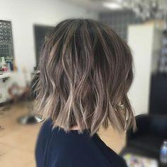 Brown Ombre Hair, Short Brown Hair, Ombre Hair Color, Hair Color Balayage, Short Hair Cuts, Short Hair Styles, Hair Colour, Ash Ombre, Short Bangs