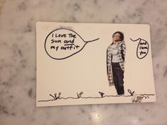 """Best Postcard EVER!!!!!  My sister sent this. Here is what she did:  1. She took a blank 4x6 card, taped on a photo of herself and drew a few flowers. 2. She wrote: """"I love the sun, and my outfit..."""" (She's a fashionista!) 3. On the other side of her photo she wrote """"and I love you.""""   4. She addressed the other side to me. 5. She stuck it in the mail.    Result? I have the best postcard EVER!!!  I feel loved and sooo grateful that I am lucky enough to have her as my sister.  Share your…"""