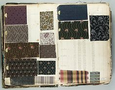Textile Sample Book    Date:      1843  Culture:      French Met Museum