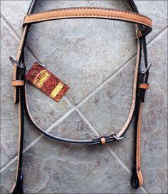 HILASON WESTERN LEATHER HORSE BRIDLE HEADSTALL TAN