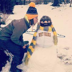 @harles001's Mountaineer Snowman! haha! #WVU #ConnectWVU #Snow