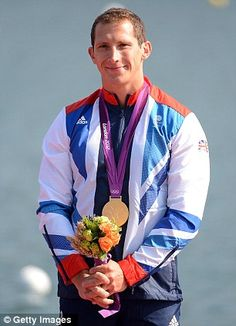 Champion: Ed McKeever won the men's 200m kayak race to claim Team GB's 26th gold medal of London 2012