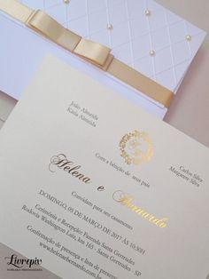 Convite Casamento Clássico com Perolas - CV 01