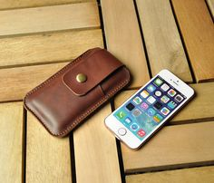 iPhone 5 Leather Case Handmade Leather Phone by iLeatherStore, $20.00
