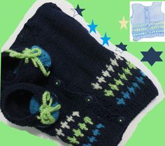 colete e tenis Baby Kids, Gloves, Knitting, Winter, Fashion, Vest Coat, Tricot, Tennis, Moda