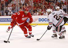 Pavel Datsyuk - Chicago Blackhawks v Detroit Red Wings