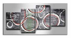 MF_027 / Cuadro Abstracto geometrico rojo