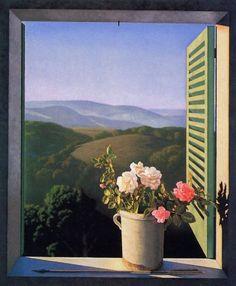 Uma linda vista de uma janela com flores. Window View, Window Art, Beautiful Places, Beautiful Pictures, Nature Aesthetic, Through The Window, Belle Photo, Oeuvre D'art, Aesthetic Pictures