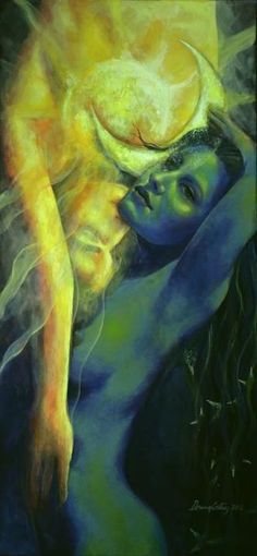 Fantasy Art Print featuring the painting Ilussion In The Mirror by Dorina Costras Flame Art, Deviant Art, Erotic Art, Fantasy Art, Fantasy Love, Cool Art, Art Drawings, Sketches, Art Prints