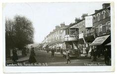RP-FOREST-HILL-London-Road-TRAM-Shops-LONDON-SE23-c.1910