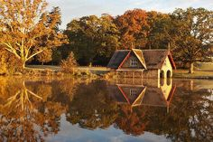 Boat House Reflection / Maynooth Print by Barry O Carroll Boat House, Nature Photos, Fine Art America, Reflection, Ireland, Nature Photography, Instagram Images, Landscape, House Styles