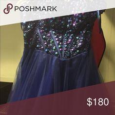 Blue Foxy Lady prom dress Like new! Worn once! Dresses Strapless