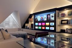 Home Theater Setup with Home Theater Seating Best Home Theater, Home Theater Setup, At Home Movie Theater, Home Theater Seating, Home Theater Design, Home Interior Design, Theatre, Home Cinema Room, Home Theater Rooms